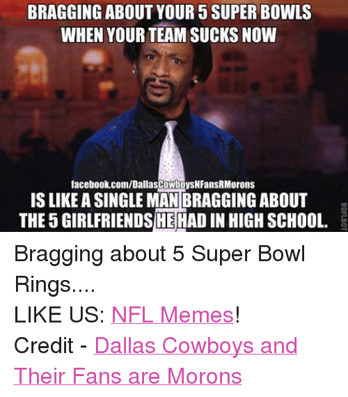 Facebook Bragging about 5 Super Bowl Rings c30a00 bragging about your 5 super bowls when your team sucks now