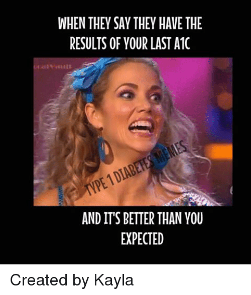 Facebook Created by Kayla 48e316 when they say they have the results of your last a1c memes diabet