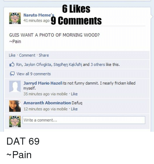 Funny Meme And Memes  Likes Naruto Memes Comments   Minutes Ago