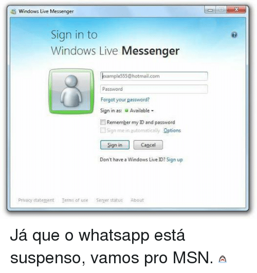 Msn sign in
