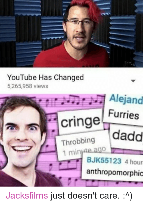 Facebook Jacksfilms just doesnt care e8d1d7 ✅ 25 best memes about funny furry funny furry memes