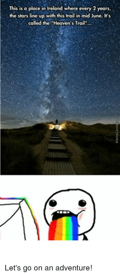 this is a place in ireland where every 2 years the stars line up