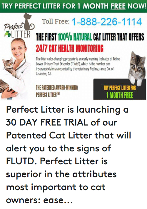 Try Perfect Litter For 1 Month Free Now Toll Free 1 888 226 1114