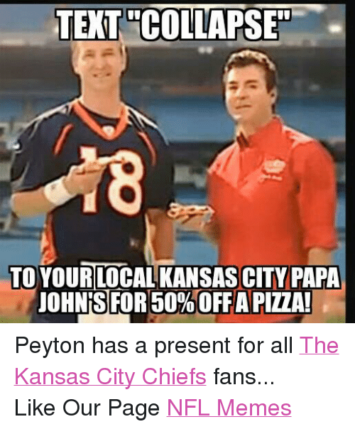 Facebook Peyton has a present for all 9e8adc text collapset to yourilocal kansas city papa uohnis for 50