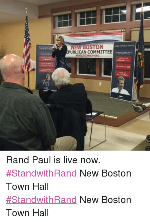 new boston publican committee rand paul is live now
