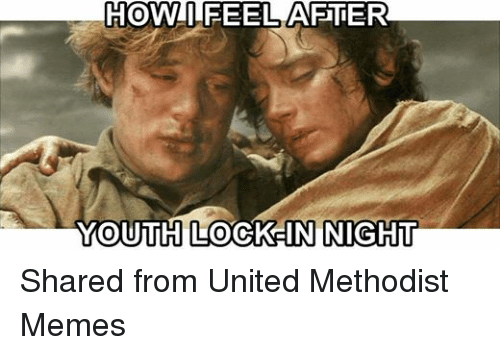 Facebook Shared from United Methodist Memes f2889a howti feel youth lock in night shared from united methodist memes