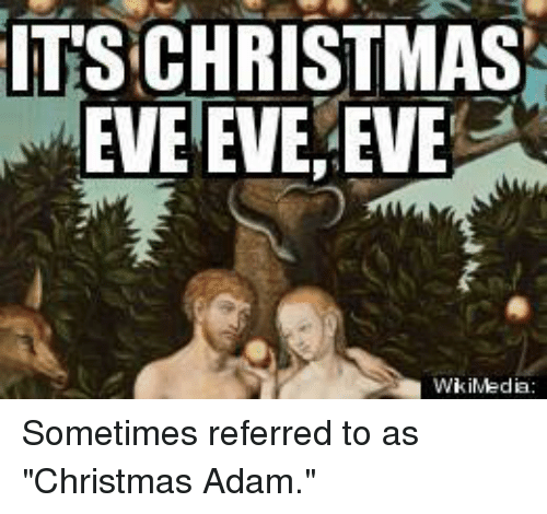 Christian Christmas Memes.Its Christmas Eve Eve Sometimes Referred To As Christmas
