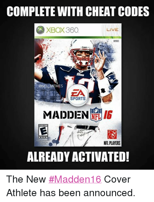 COMPLETE WITH <b>CHEAT CODES</b> XBOX360 LIVE NFL MEMES SPORTS RIG <b>MADDEN</b> ...