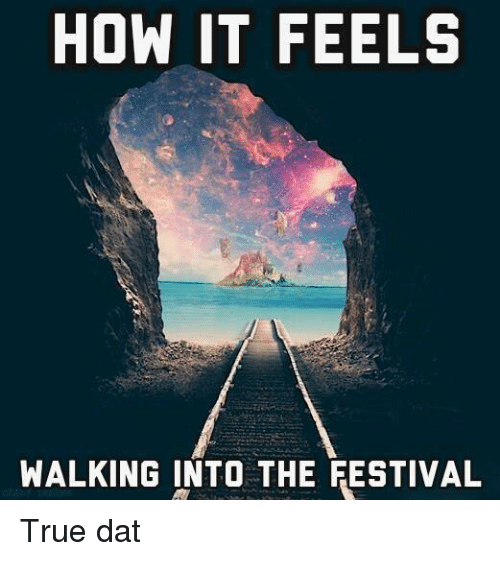 Music, True, and Edm: HOW IT FEELS  WALKING INTO THE FESTIVAL True dat