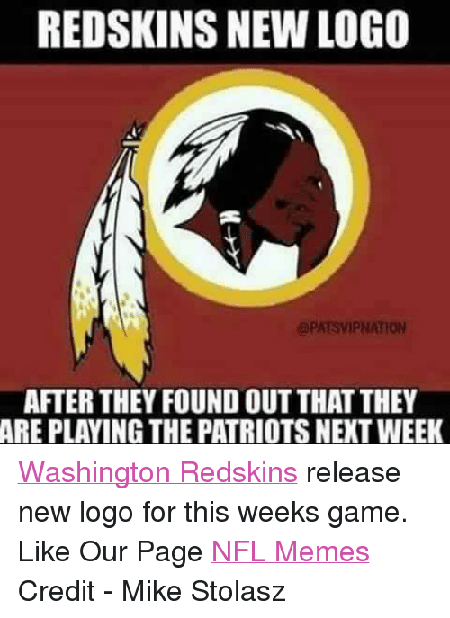Redskins New Logo Apatsvipnation After They Found Outthat They Are