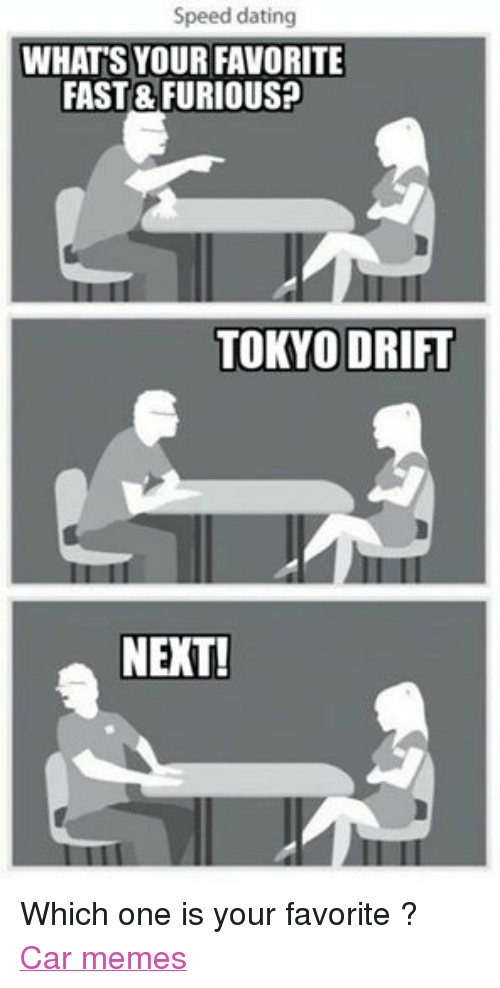 Car speed dating meme