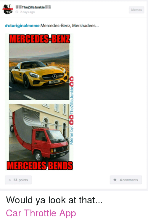 2 Days Ago #Ctoriginalmeme Mercedes-Benz Mershadees 190 MBC
