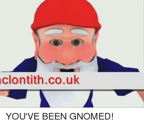 Image result for youve been gnomed