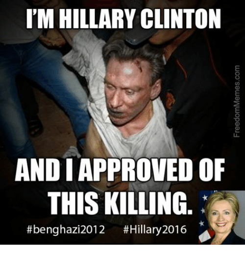 Facebook a838c0 i'm hillary clinton and i approved of this killing benghazi 2012