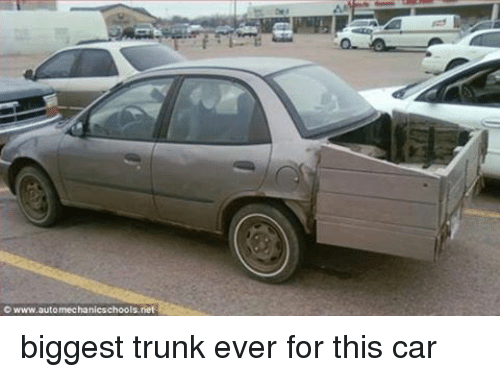 wwwautomechanicschoolsnet biggest trunk ever for this car cars