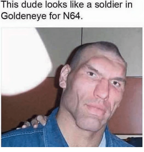 Dude, Soldiers, and Dank Memes: This dude looks like a soldier in  Goldeneye for N64.