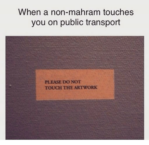 When a Non-Mahram Touches You on Public Transport PLEASE DO NOT