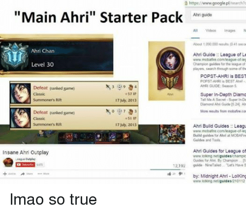 Ahri Chan Level 30 Defeat Ranked Game Classic I Summoners Rift