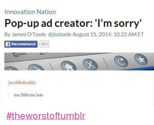 pop up ads