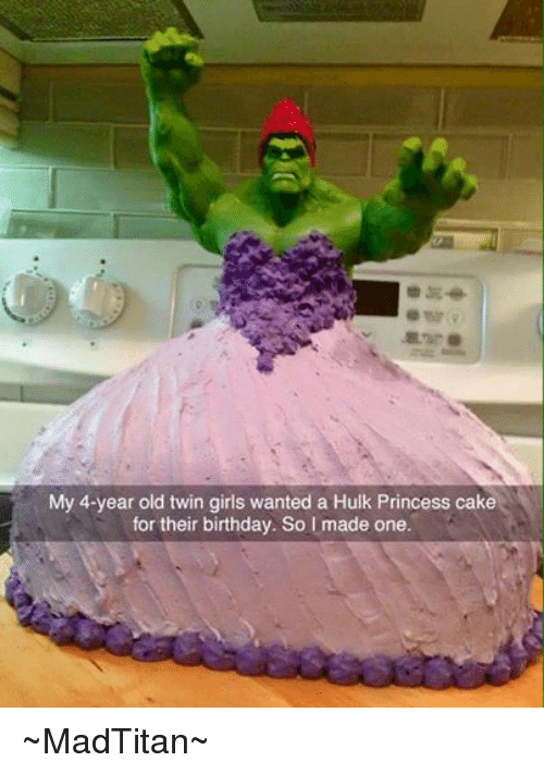 Birthday Girls And Hulk My 4 Year Old Twin Wanted A
