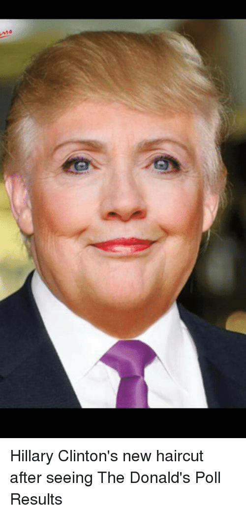 20 Hillary Clinton\'s New Haircut After Seeing the Donald\'s Poll ...