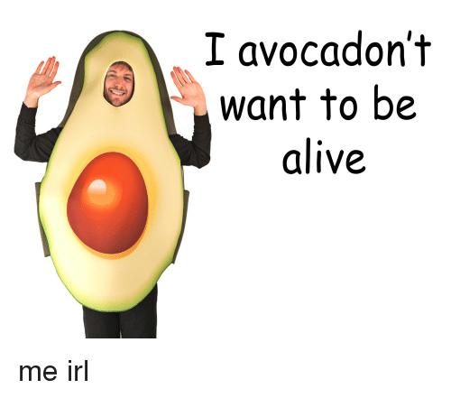 Imgur df88aa i avocadon't want to be alive me irl alive meme on me me