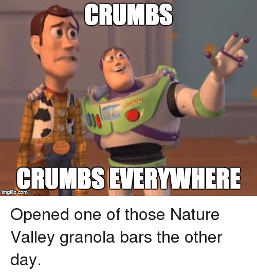 Crumbs Crumbs Everywhere Mgflipcom Opened One Of Those Nature Valley