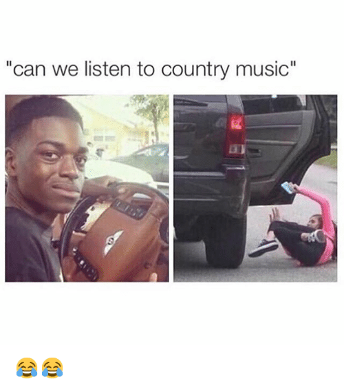 Can We Listen To Country Music Funny Meme On Me Me
