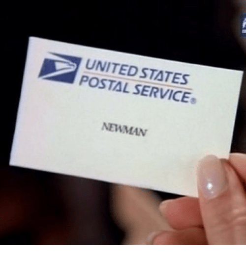 Funny, Newman, and United: UNITED STATES  POSTAL NEWMAN