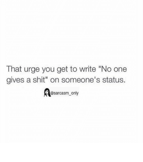 No One Gives A Shit