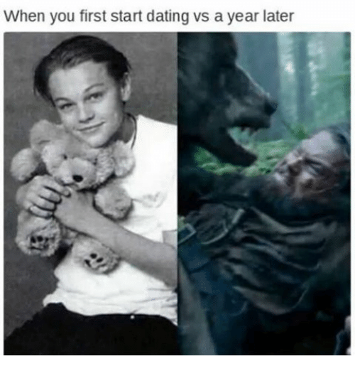 When you first start dating meme