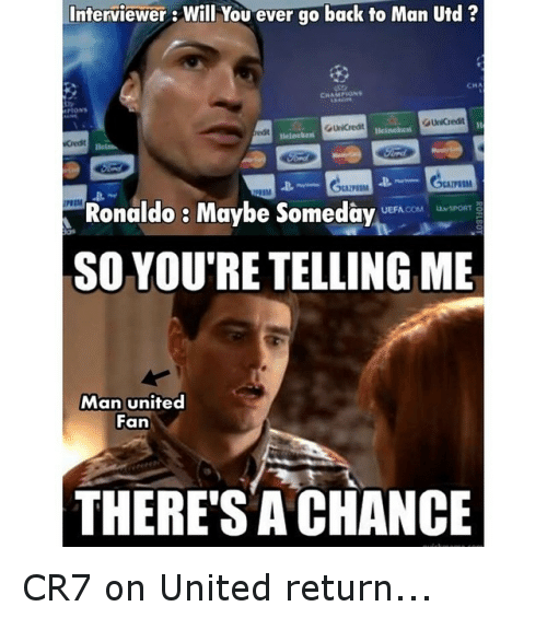 Instagram CR7 on United return 8c2eec ✅ 25 best memes about united united memes