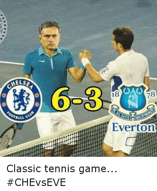 Everton, Soccer, and Sports: HELSE  OTBALL C  78  Everton Classic tennis game... CHEvsEVE