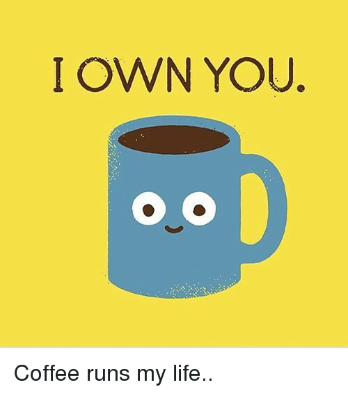 Funny, Life, and Run: I OWN YOU. Coffee runs my life..