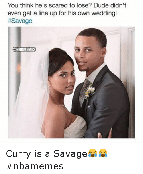 You think hes scared to lose dude didnt even get a line up for steph curry wife junglespirit Choice Image
