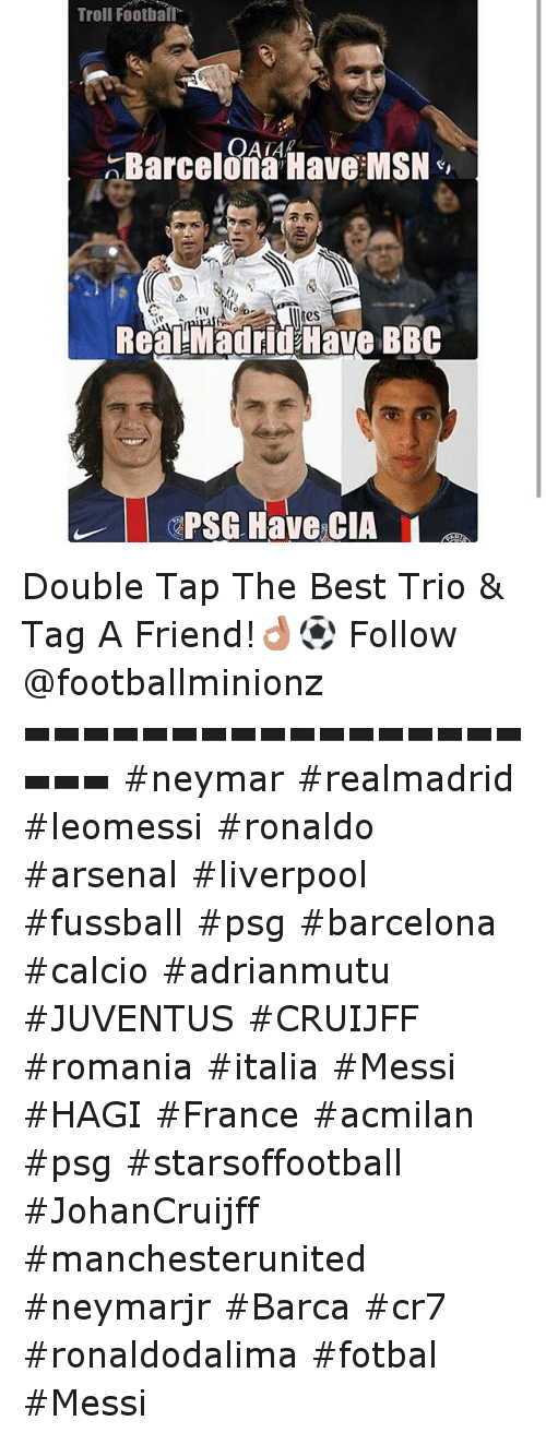 Troll Football Barcelona Have Msn Mes Real Madrid Have Bbc