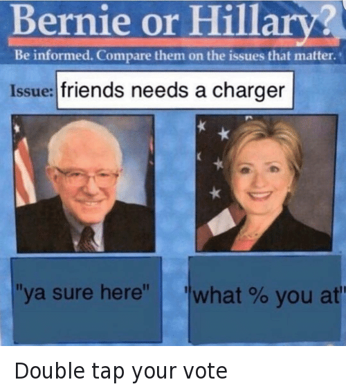 bernie or hillary be informed compare them on the issues that