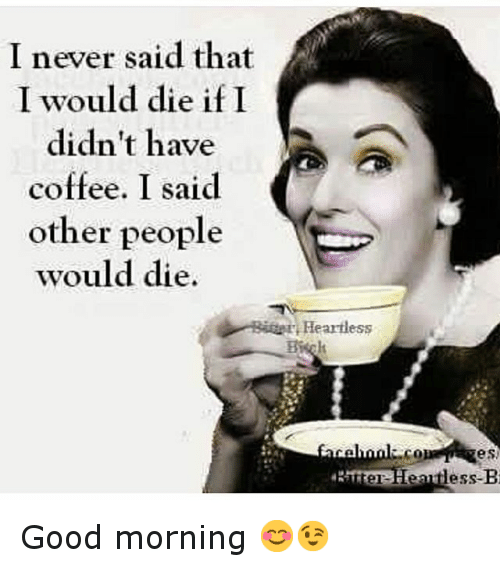 I Never Said That I Would Die If I Didnt Have Coffee I Said Other