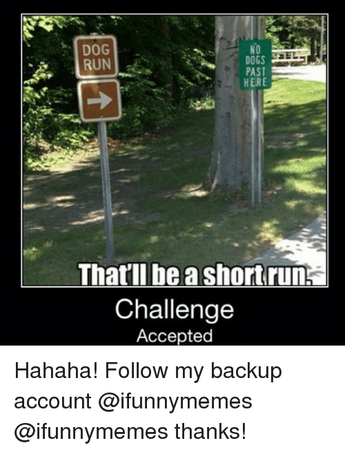 Instagram Hahaha Follow my backup account ifunnymemes ebd04b ✅ 25 best memes about running challenge running challenge memes,Backup Funny Memes