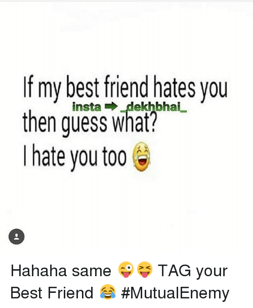 my best friends hate you