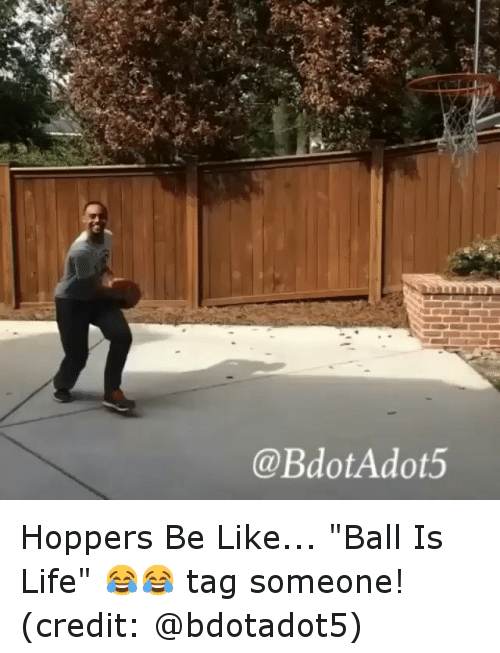 "Ball Is Life, Basketball, and Be Like: @BdotAdot5 Hoppers Be Like... ""Ball Is Life"" 😂😂 tag someone! (credit: @bdotadot5)"
