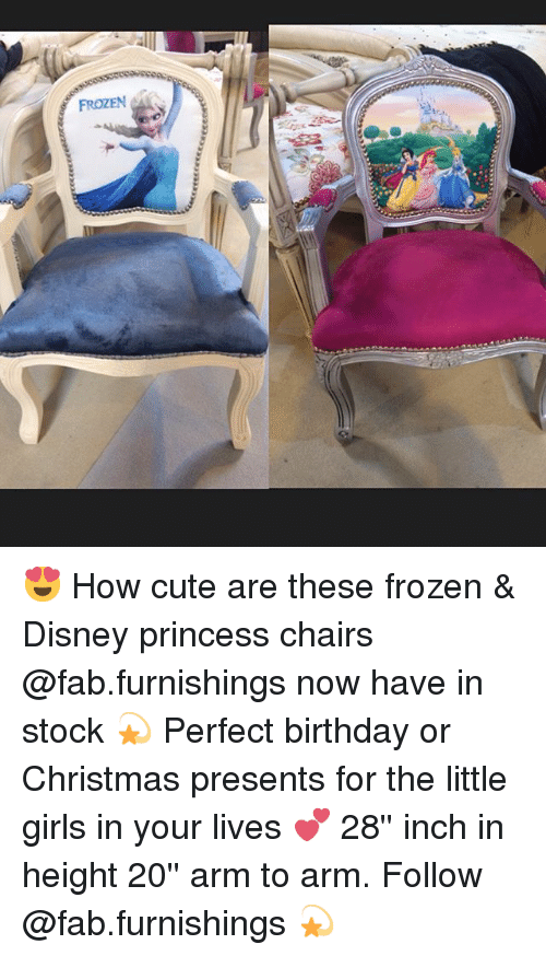 FROZEN 😍 How Cute Are These Frozen & Disney Princess Chairs Now