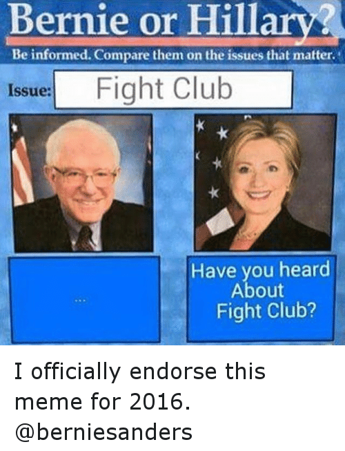 Instagram I officially endorse this meme for 242c70 bernie or hillary? beinformed compare them on the issues that