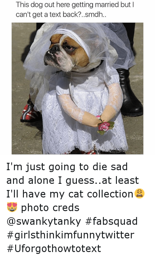This Dog Out Here Getting Married but I Can\u0027t Get a Text