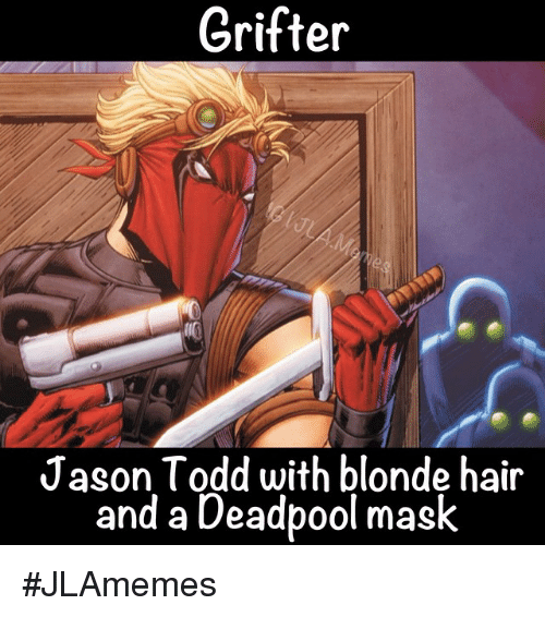 Grifter Jason Todd With Blonde Hair And A Deadpool Mask