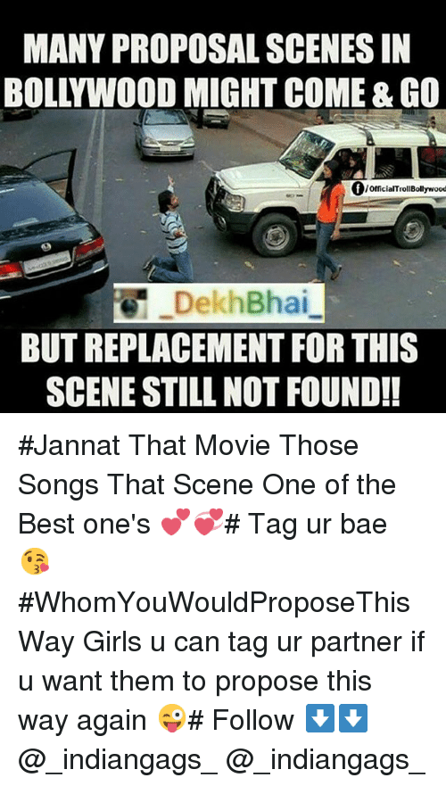 Many Proposal Scenes In Bollywood Might Comego Official
