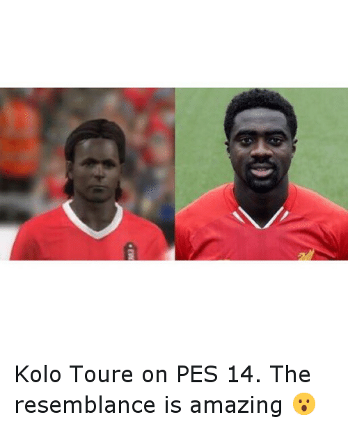 Soccer, Sports, and Amaz: fi Kolo Toure on PES 14. The resemblance is amazing 😮