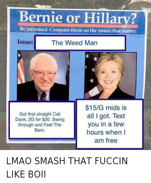 Instagram LMAO SMASH THAT FUCCIN LIKE BOII BBY56dGL96l ✅ 25 best memes about bernie or hillary issues bernie or