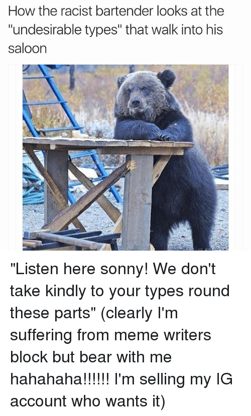 but bear with me