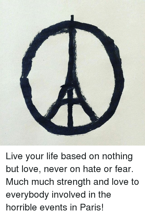 Live Your Life Based On Nothing But Love Never On Hate Or Fear Much